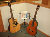 Guitars in the music room
